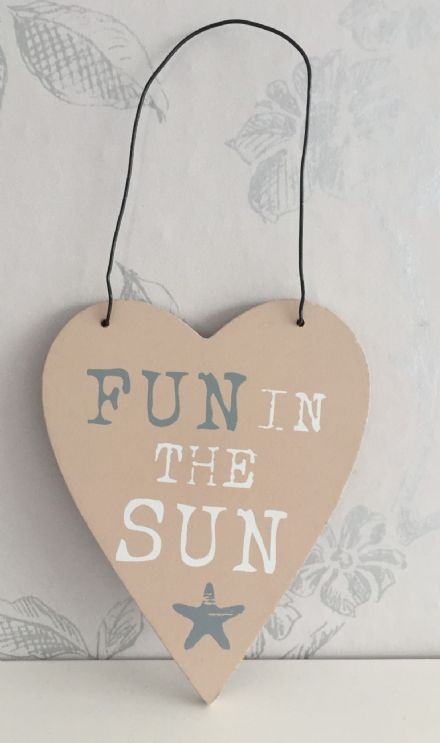 Fun In The Sun Heart Plaque